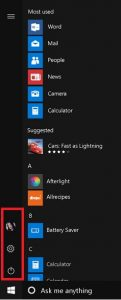 Windows 10 Anniversary Start Button